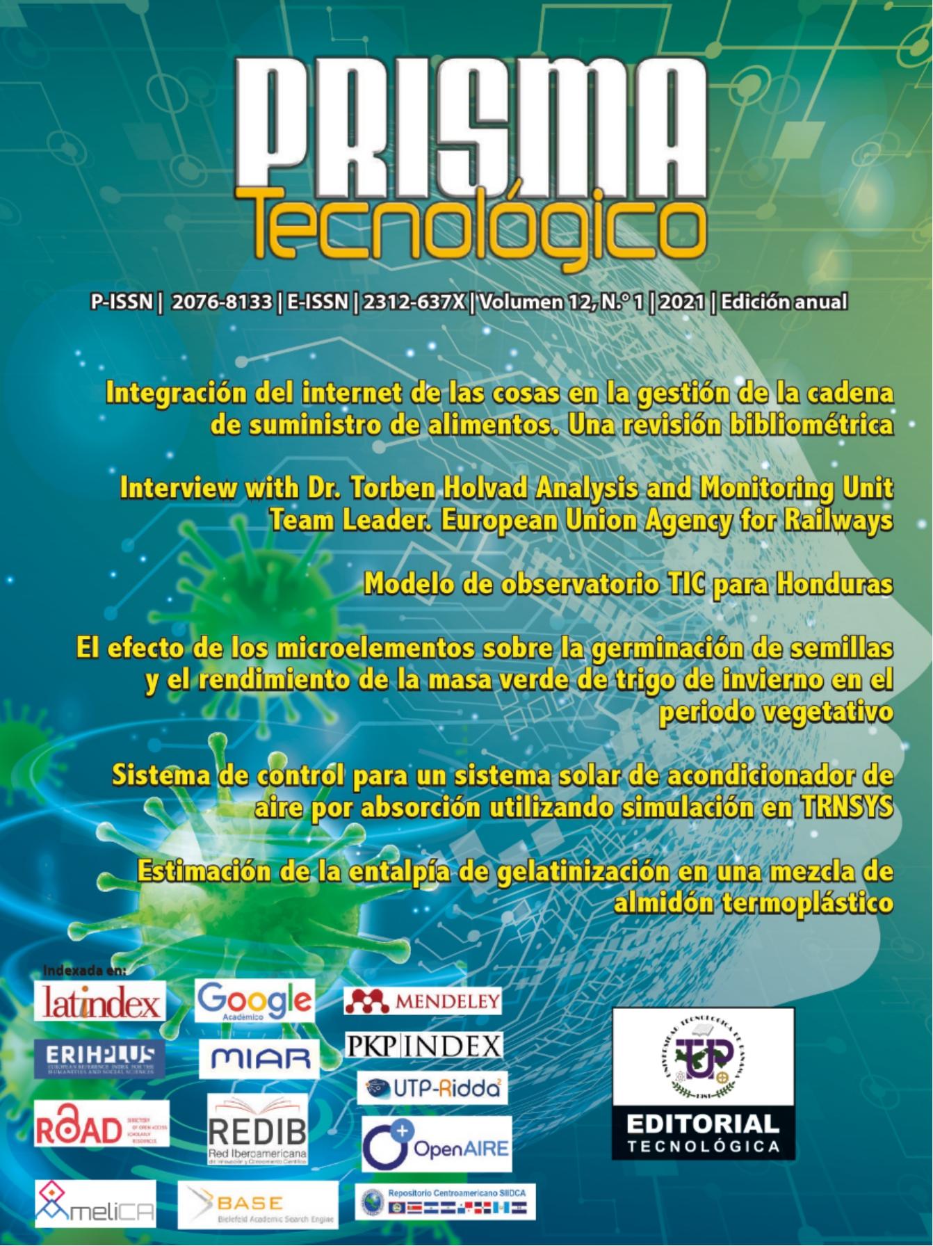 Revista Prisma Tecnológico volumen 12-2021